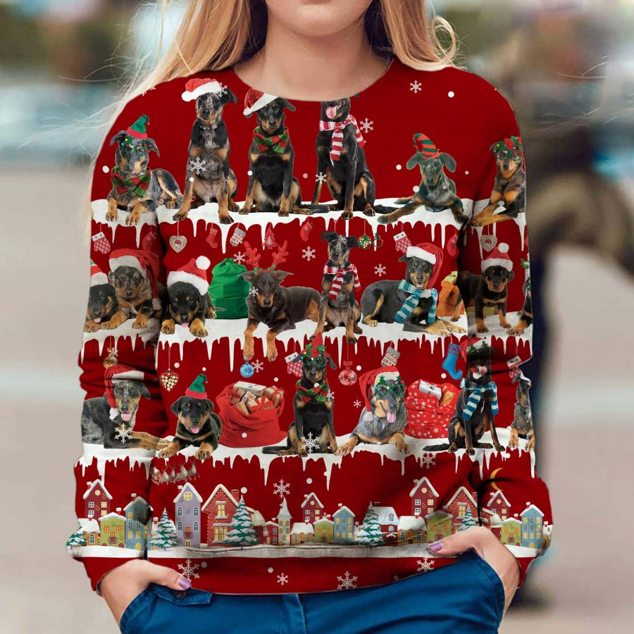 Beauceron - Snow Christmas - Premium Sweatshirt