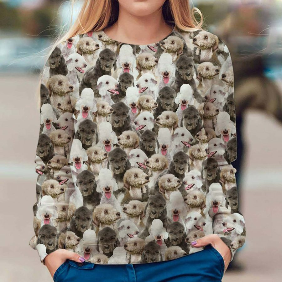 Bedlington Terrier - Full Face - Premium Sweatshirt