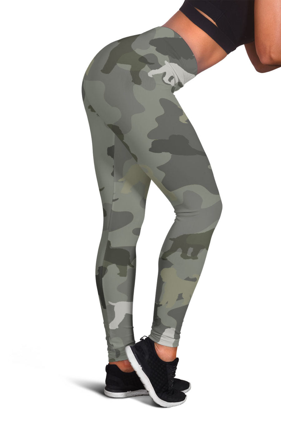 Black Russian Terrier Camo Legging