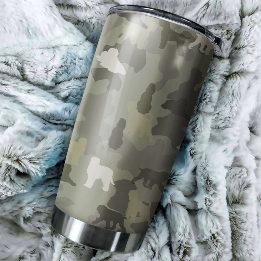 Black Russian Terrier Camo Tumbler Cup