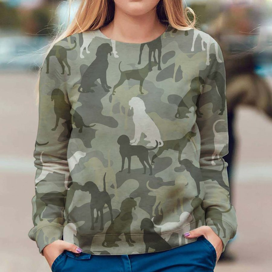 Black and Tan Coonhound - Camo - Premium Sweatshirt