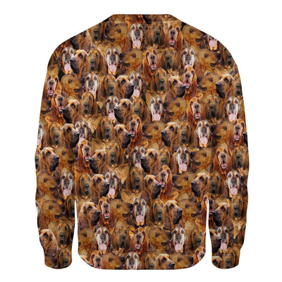 Bloodhound - Full Face - Premium Sweatshirt