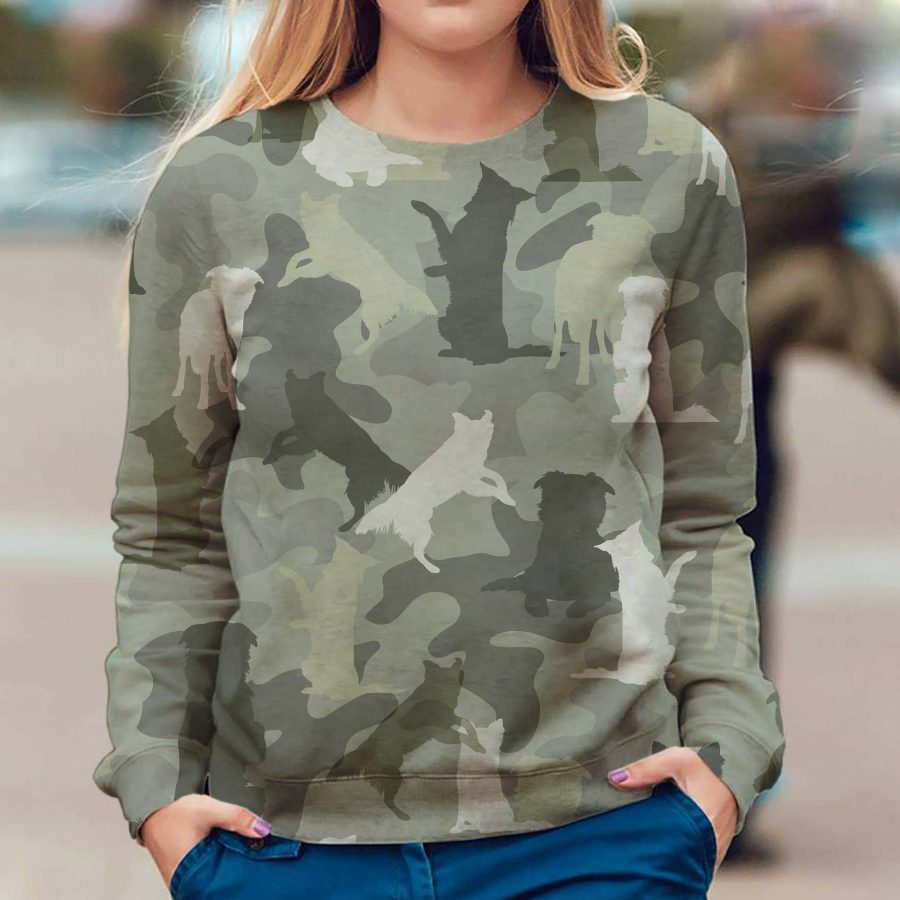 Border Collie - Camo - Premium Sweatshirt