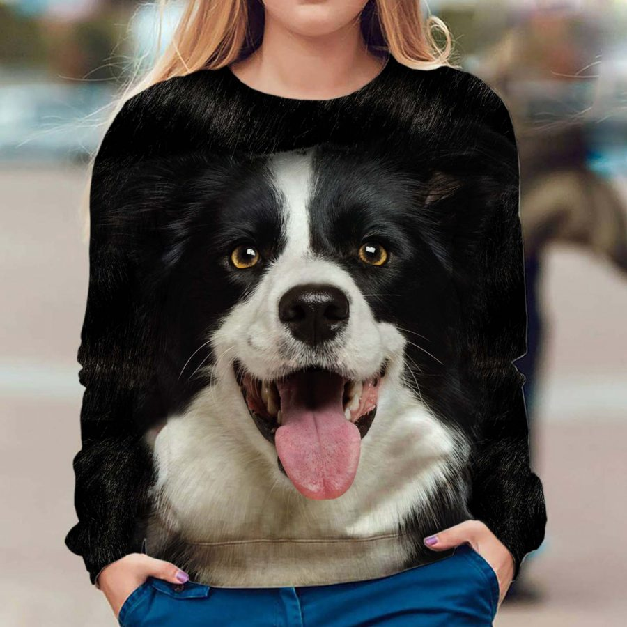 Border Collie - Face Hair - Premium Sweatshirt
