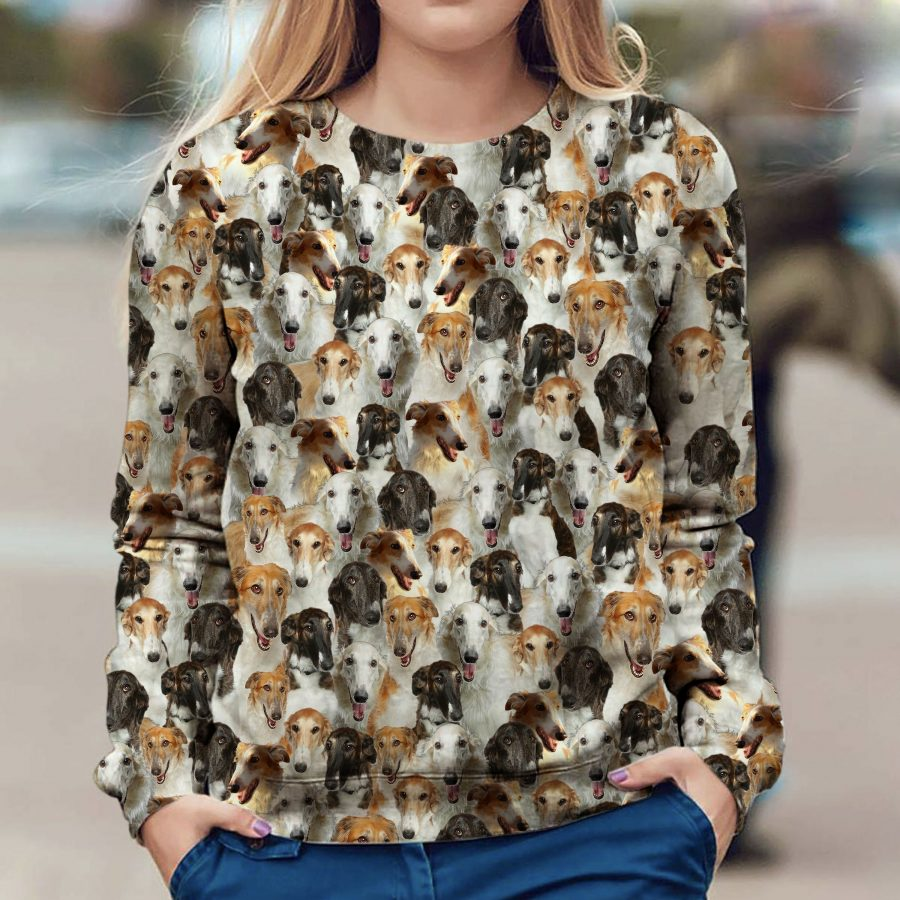 Borzoi - Full Face - Premium Sweatshirt