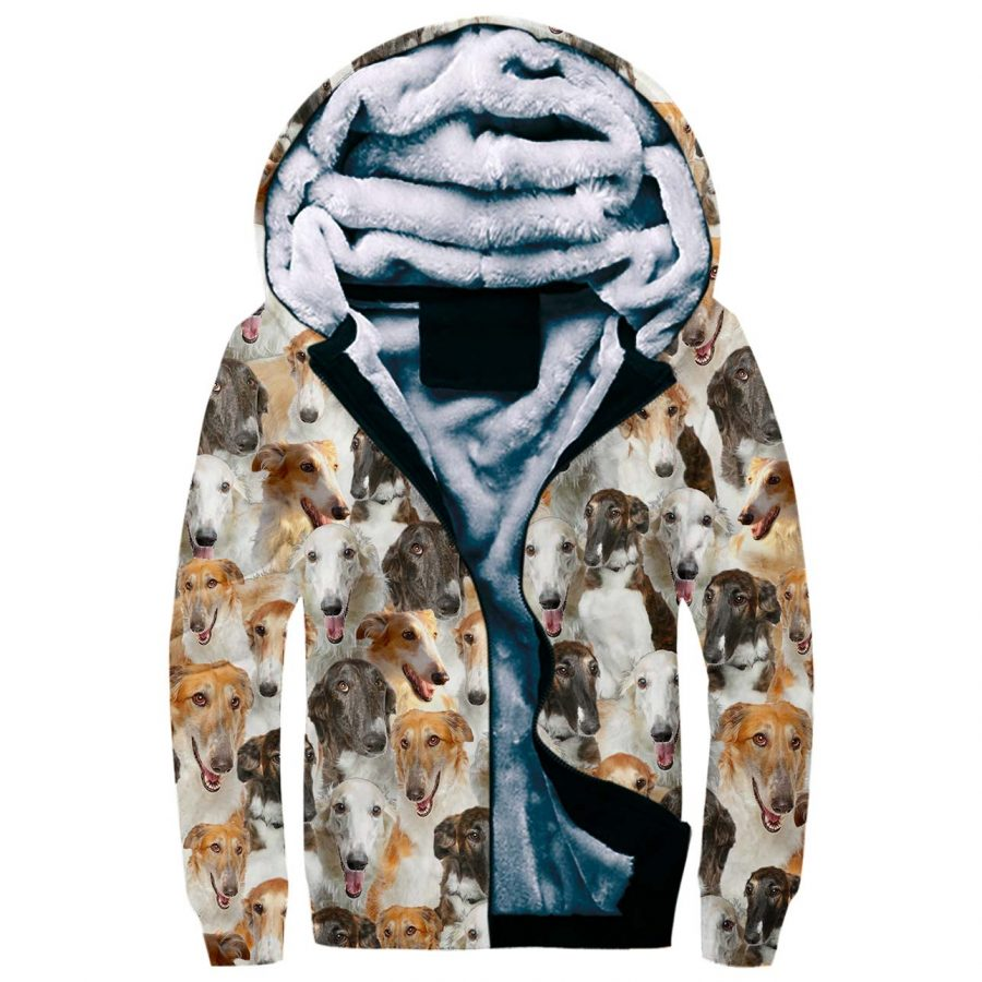 Borzoi Full Face Fleece Hoodie