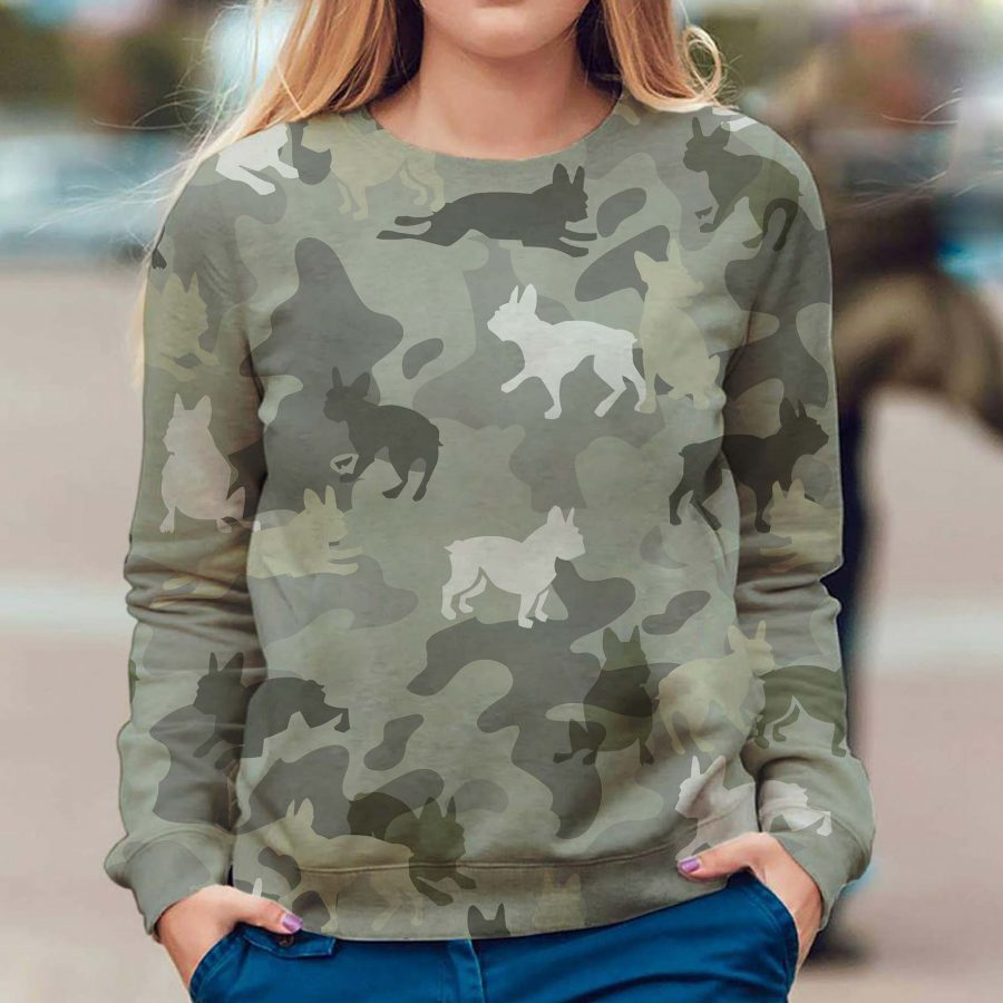 Boston Terrier - Camo - Premium Sweatshirt