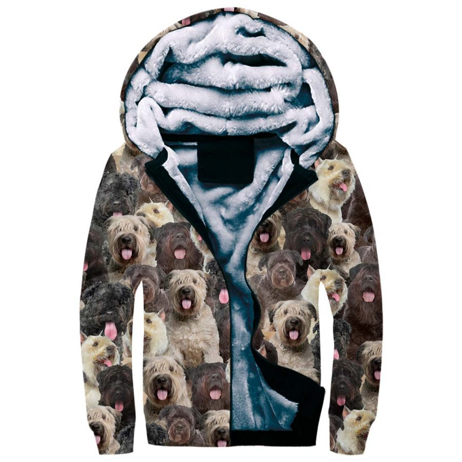 Bouvier des Flandres Full Face Fleece Hoodie