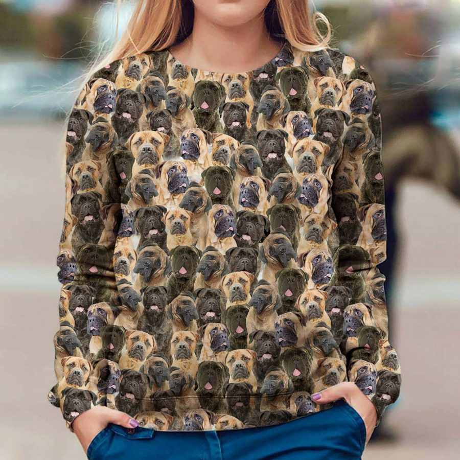 Bullmastiff - Full Face - Premium Sweatshirt