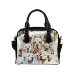 Clumber Spaniel Face Shoulder Handbag