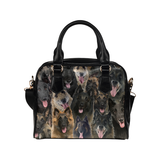 Belgian Shepherd Face Shoulder Handbag