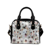 American Eskimo Face Shoulder Handbag