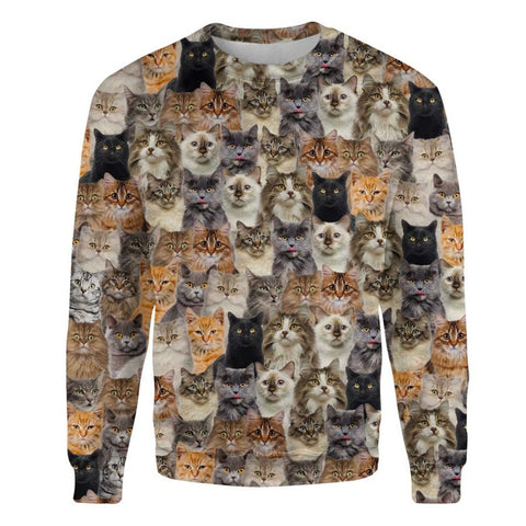 Cat Full Face Sweatshirt