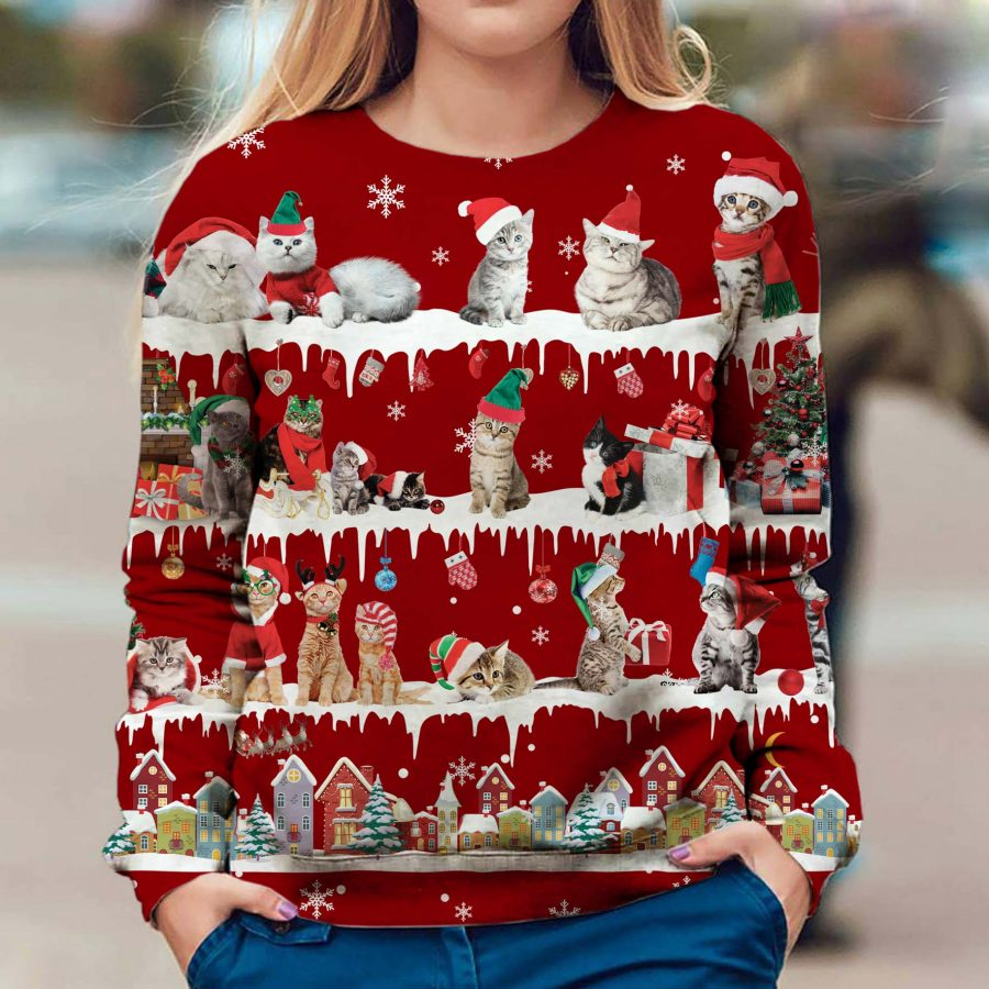 Cat - Snow Christmas - Premium Sweatshirt