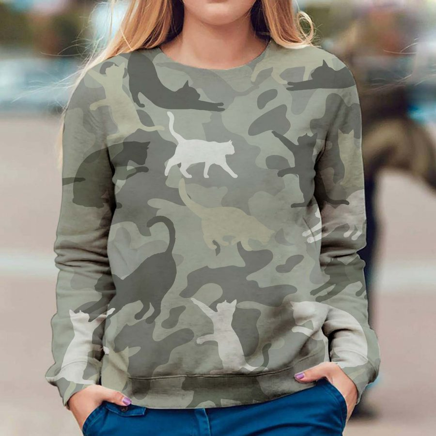Cat - Camo - Premium Sweatshirt