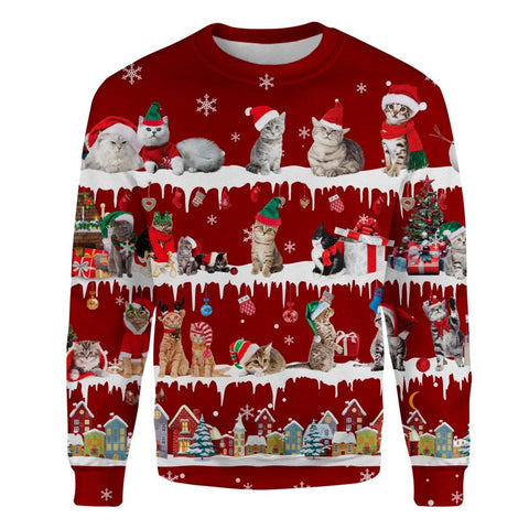 Cat Snow Christmas Sweatshirt
