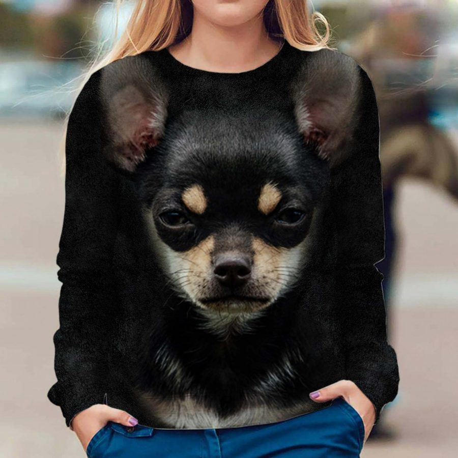 Chihuahua 1 - Face Hair - Premium Sweatshirt