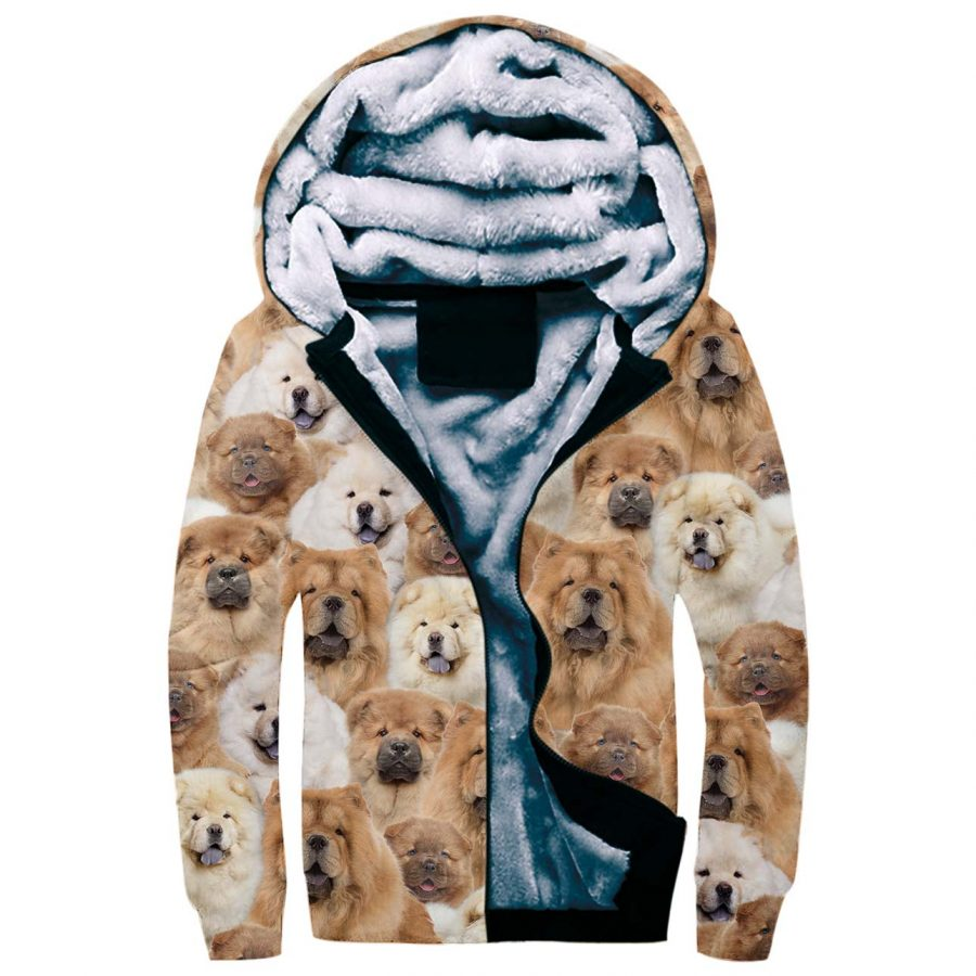 Chow Chow Full Face Fleece Hoodie