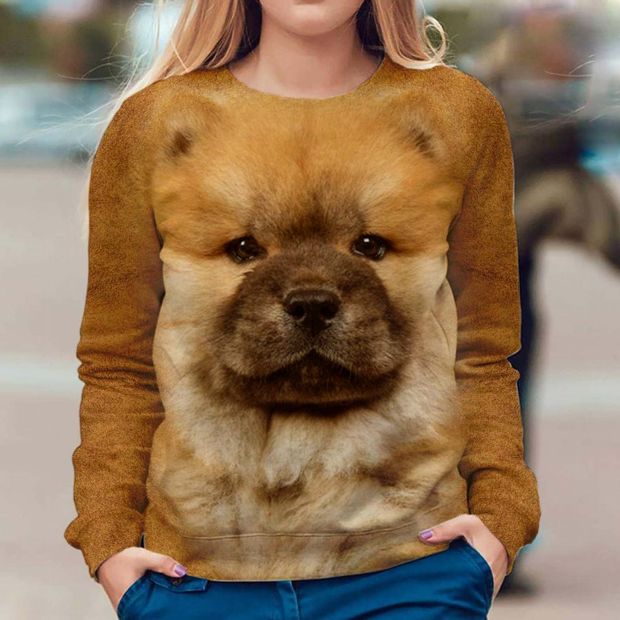 Chow Chow - Face Hair - Premium Sweatshirt