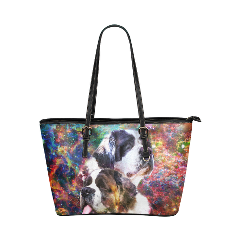 St Bernard Leather Tote Bag