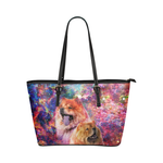 Chow Chow Leather Tote Bag