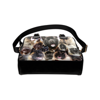 American Akita Face Shoulder Handbag