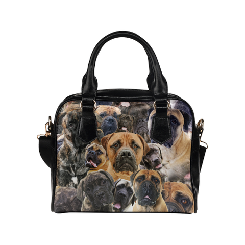 Bullmastiff Face Shoulder Handbag