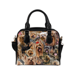 Yorkshire Terrier Face Shoulder Handbag