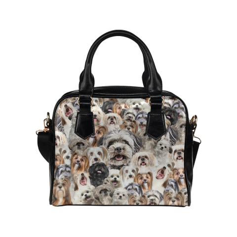 Lhasa Apso Face Shoulder Handbag