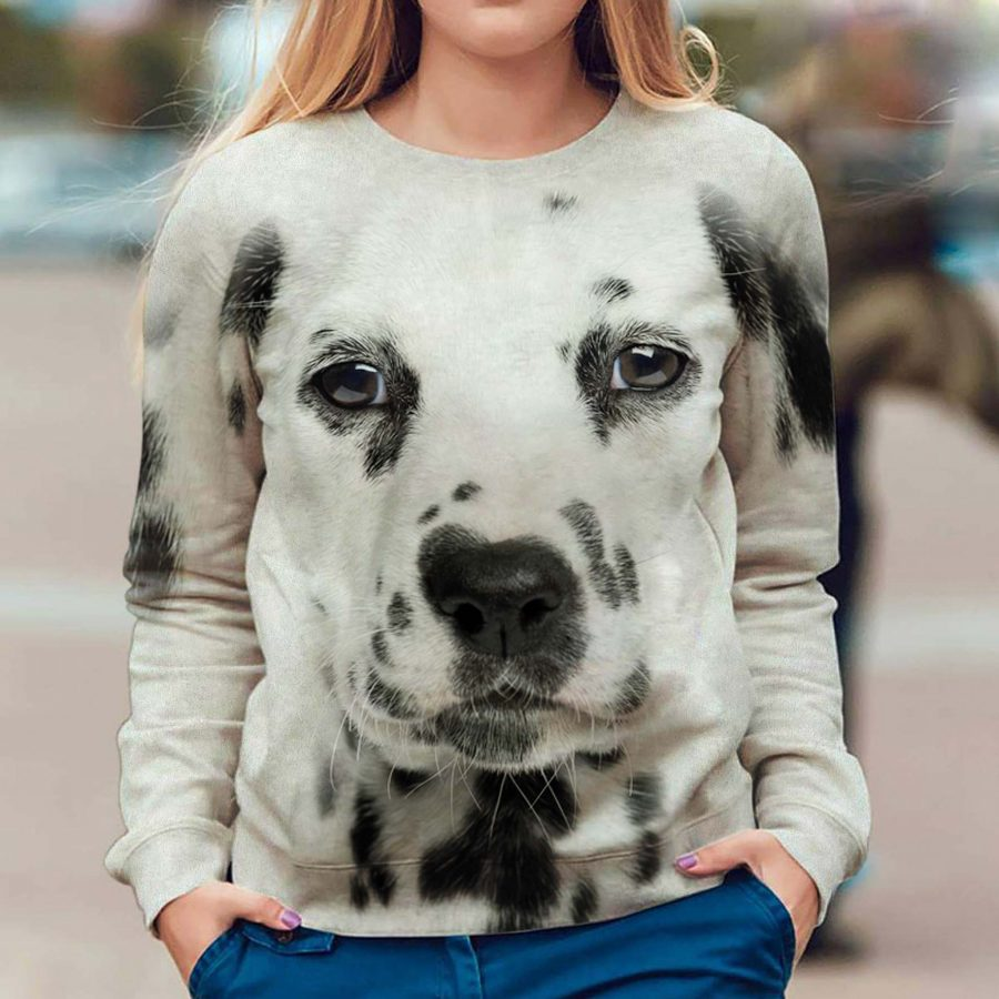 Dalmatian - Face Hair - Premium Sweatshirt
