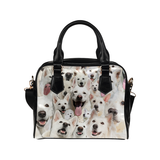 Berger Blanc Suisse Face Shoulder Handbag