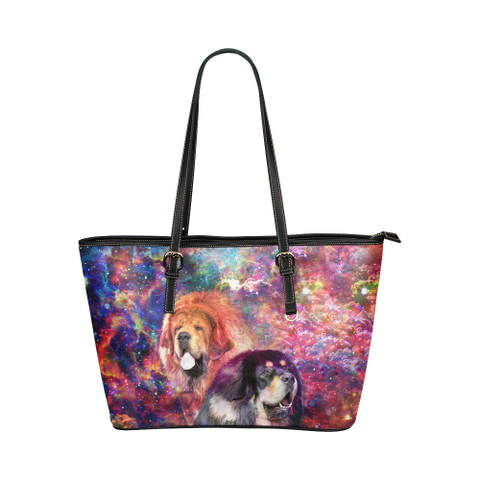Tibetan Mastiff Leather Tote Bag