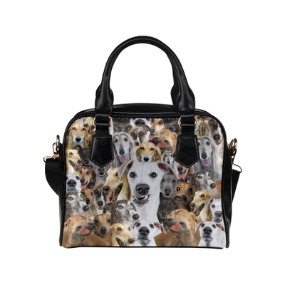 Greyhound Face Shoulder Handbag