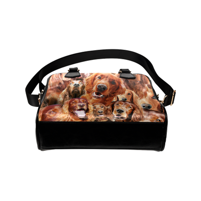 Irish Setter Face Shoulder Handbag