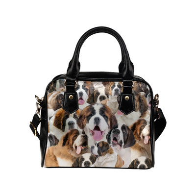 St. Bernard Face Shoulder Handbag