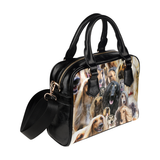 Afghan Hound Face Shoulder Handbag