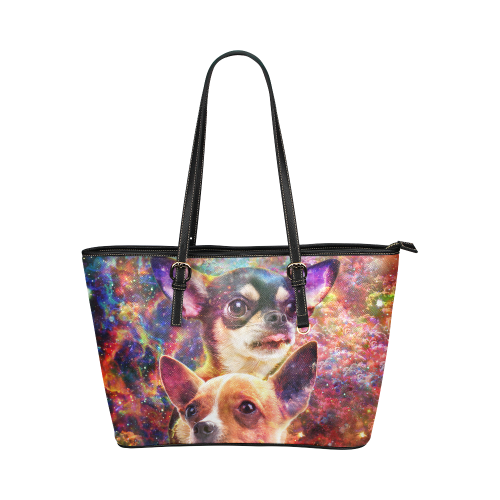 Chihuahua Leather Tote Bag