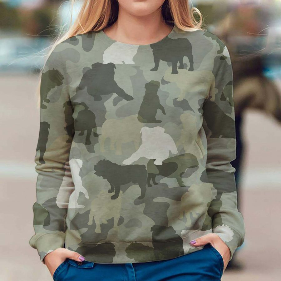 English Bulldog - Camo - Premium Sweatshirt