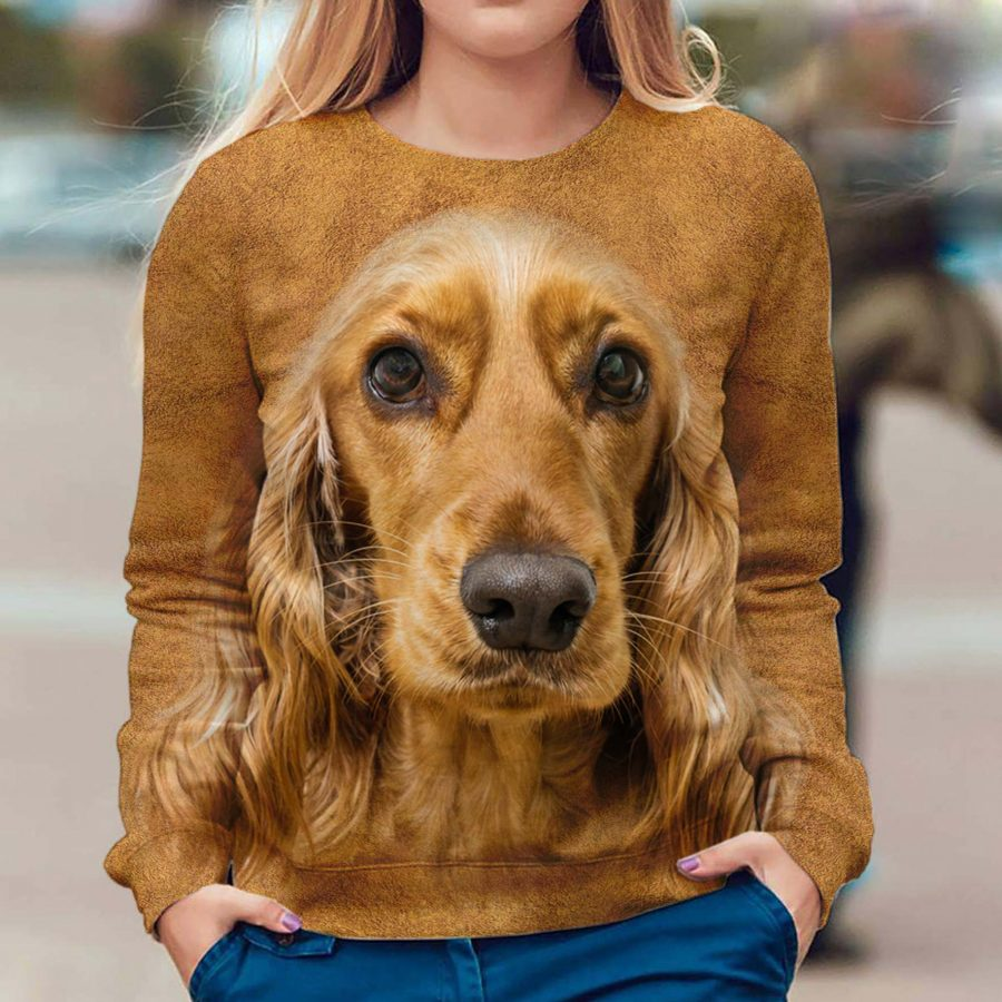 English Cocker Spaniel - Face Hair - Premium Sweatshirt