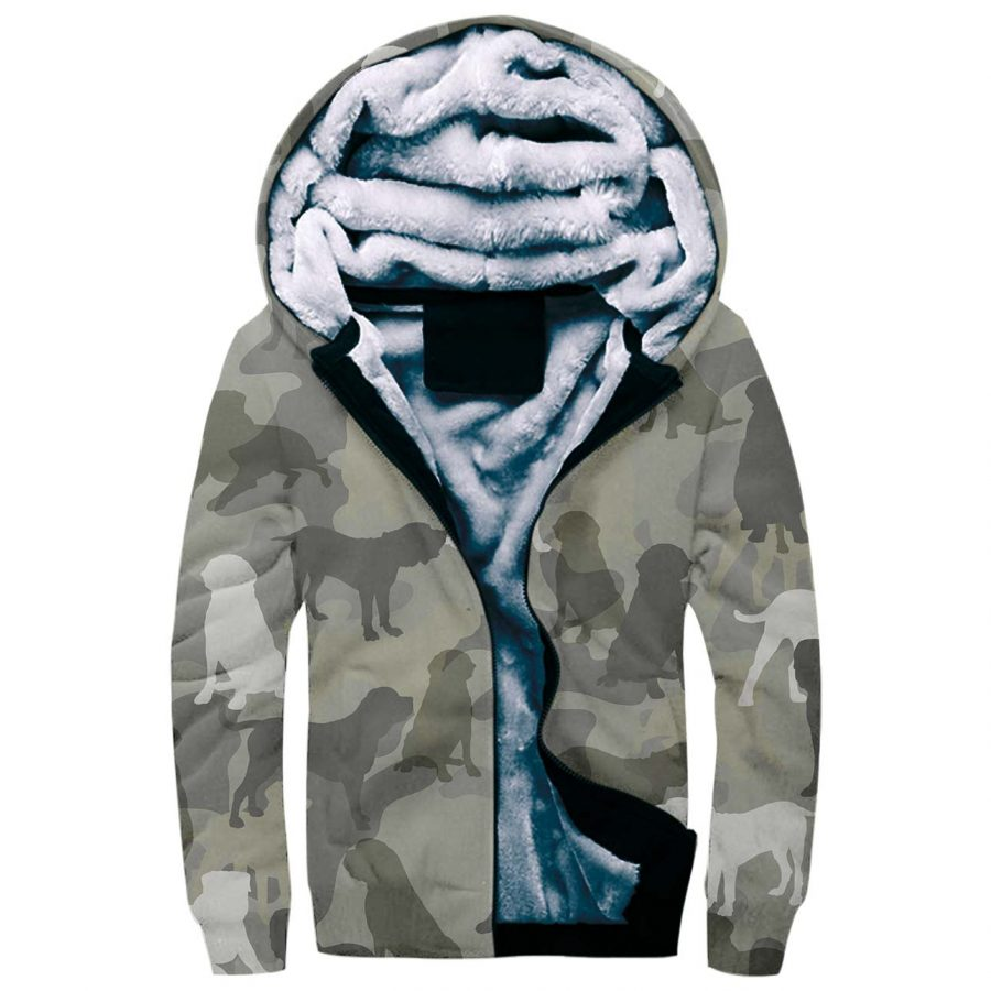English Mastiff Camo Fleece Hoodie