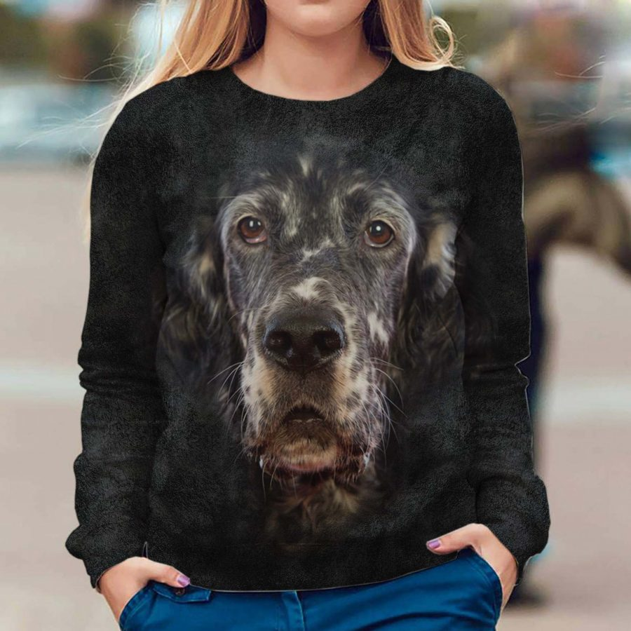 English Setter - Face Hair - Premium Sweatshirt