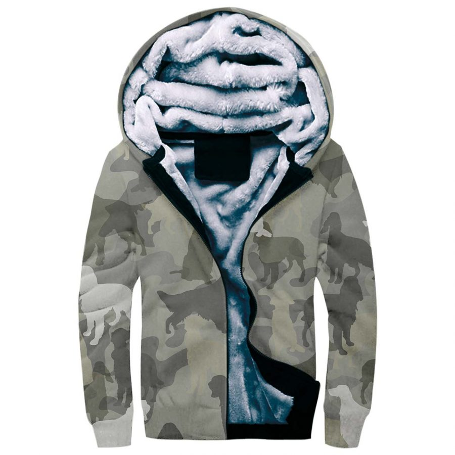 English Setter Camo Fleece Hoodie