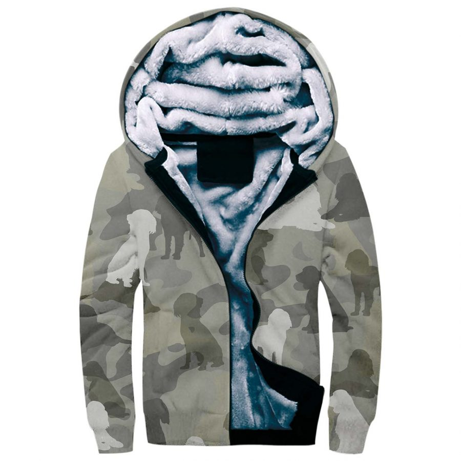 English Springer Spaniel Camo Fleece Hoodie