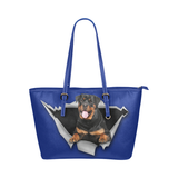 Rottweiler Leather Tote Bag