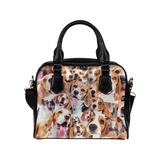 Beagle Face Shoulder Handbag