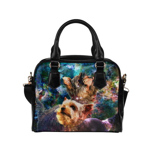 Yorkshire Terrier Yin Yang Shoulder Handbag