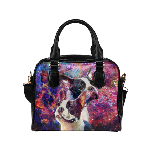 Boston Terrier Yin Yang Shoulder Handbag
