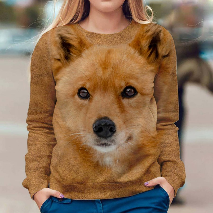 Finnish Spitz - Face Hair - Premium Sweatshirt