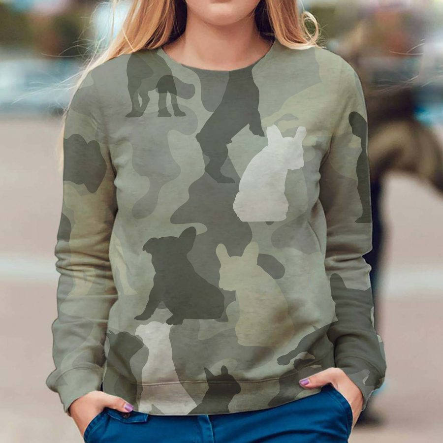 French Bulldog - Camo - Premium Sweatshirt