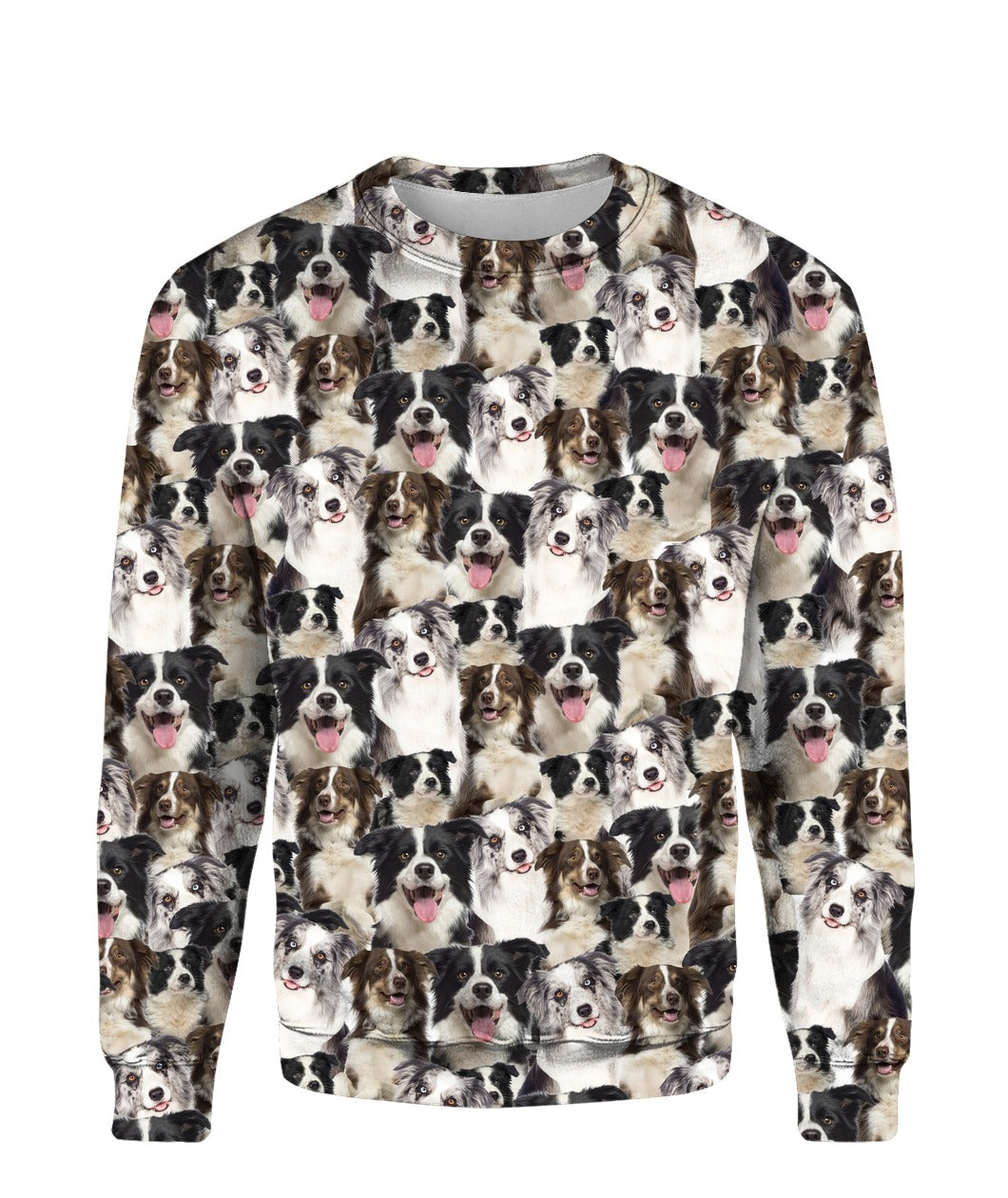 Border Collie - Full Face - Premium Sweatshirt